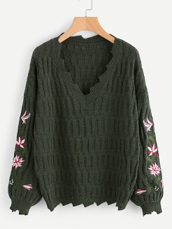 http://fr.shein.com/Embroidered-Sleeve-Distressed-Sweater-p-382115-cat-1734.html