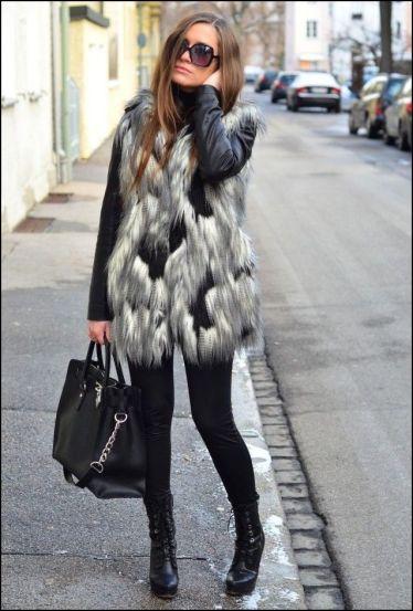 long-grey-fur-vest-style