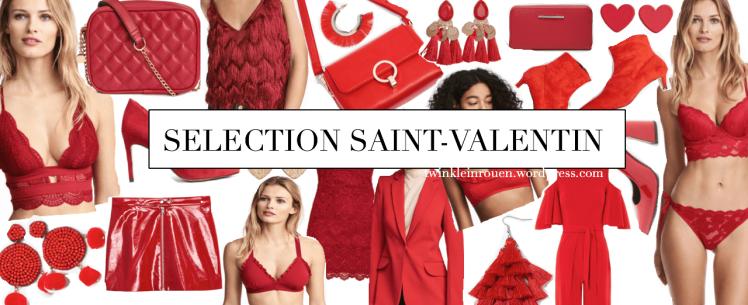 Je vous ai fait une petite sélection de tenue 100% rouge. Le rouge ... couleur de la Saint Valentin, de l'amour. J'espère que cela vous plait et que vous allez trouver votre tenue parfaite pour ce jour de l'amour. Il y a pas mal de choix vous me direz !
